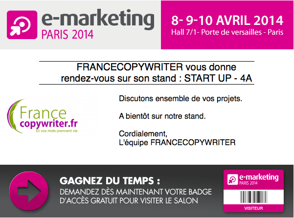 Des r dacteurs web au salon e marketing 2014 - Salon emarketing paris ...