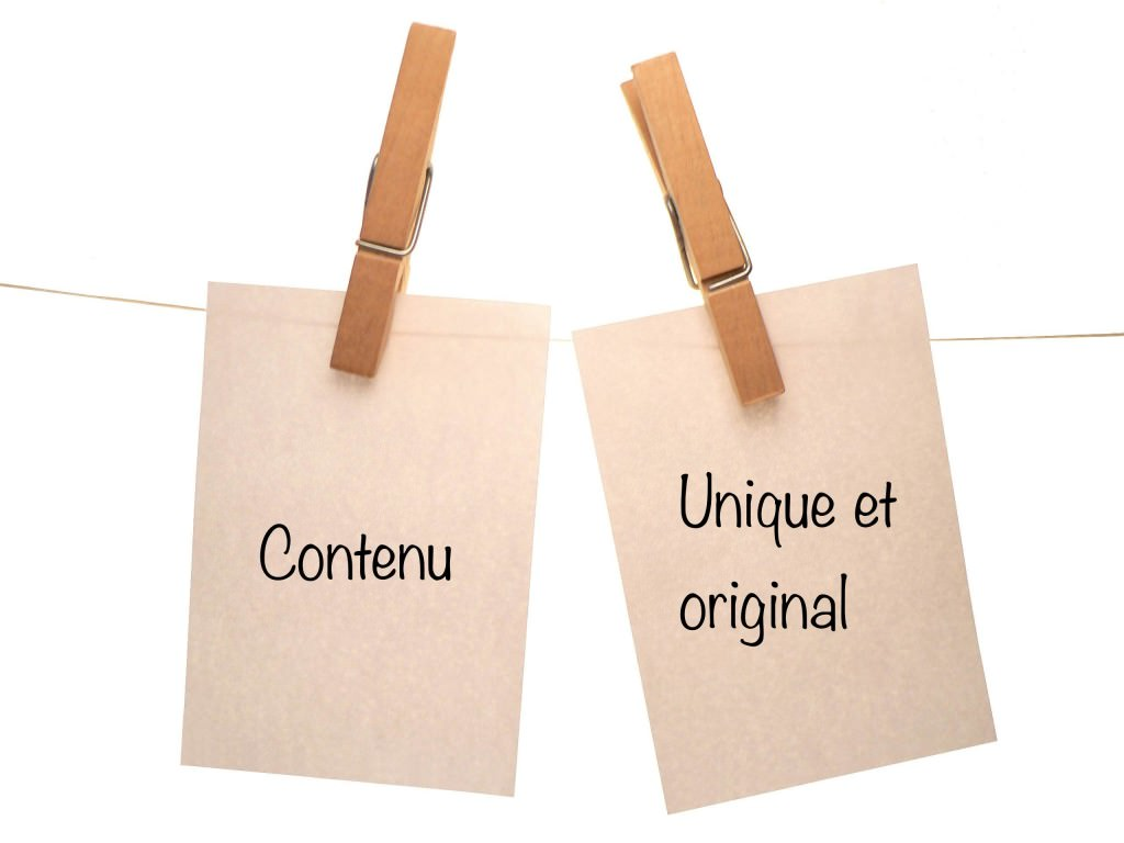 contenu original et unique