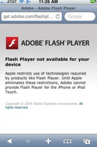 iphone-flash-message